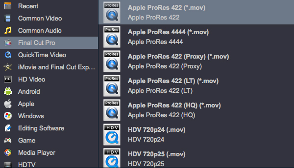 Convert Video To ProRes 422
