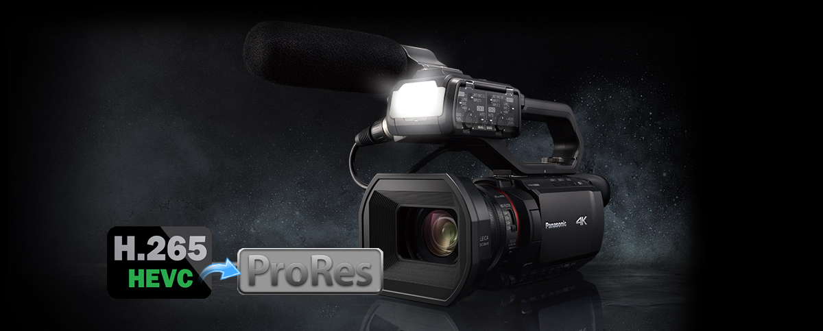 HEVC to ProRes - Edit Panasonic AG-CX10 in Premiere Pro and DaVinci Resolve