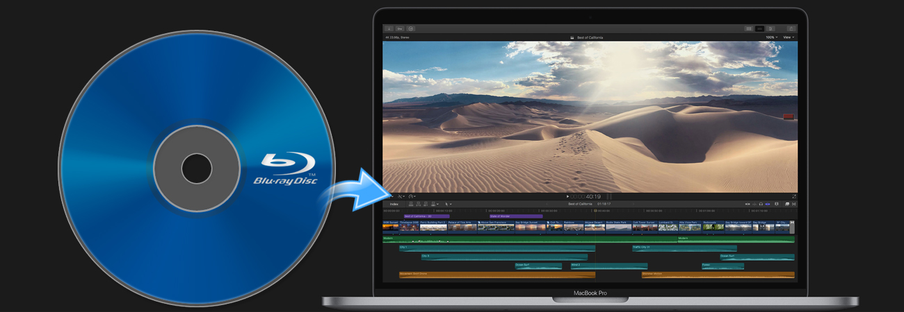 Edit Blu-ray in Final Cut Pro X with ProRes codec